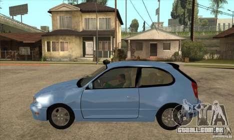 Toyota Corolla G6 Compact E110 US para GTA San Andreas esquerda vista