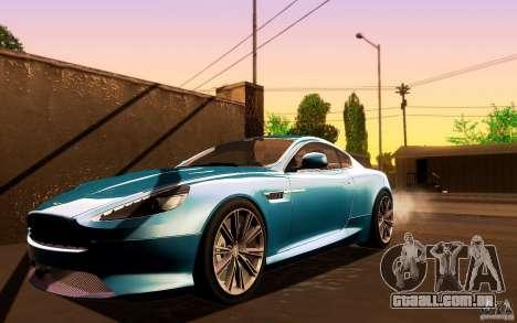 Aston Martin Virage V1.0 para GTA San Andreas esquerda vista