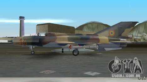 MiG 21 LanceR A para GTA Vice City vista traseira esquerda