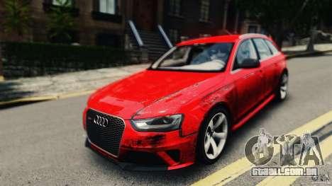 Audi RS4 Avant 2013 v2.0 para GTA 4 vista direita