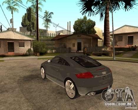 Audi TTS Coupe V1.1 para GTA San Andreas traseira esquerda vista