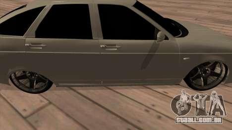 LADA Priora 2172 para GTA San Andreas traseira esquerda vista