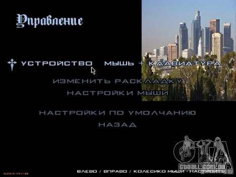 Novo menu no estilo de Los Angeles para GTA San Andreas terceira tela