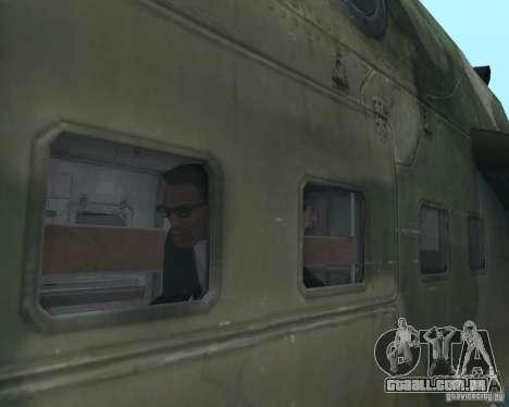 Mi-24 p para vista lateral GTA San Andreas