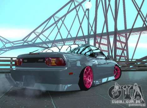 Nissan 240SX Team Top Flight para GTA San Andreas vista direita