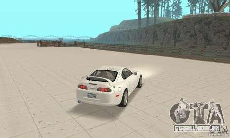 Toyota Supra 1998 stock para GTA San Andreas esquerda vista