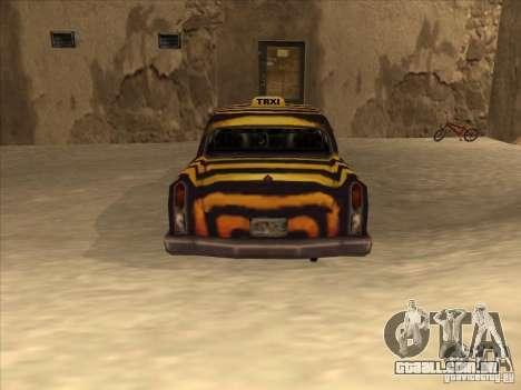 Zebra Cab de Vice City para GTA San Andreas vista direita