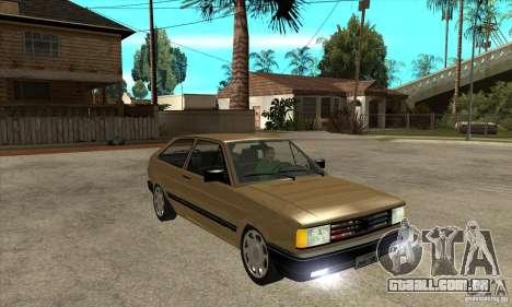 VW Gol GL 1.8 1989 para GTA San Andreas vista traseira