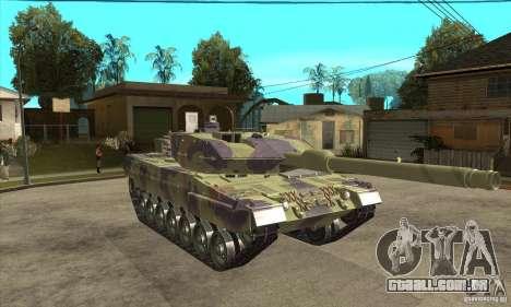 Leopard 2 A6 para GTA San Andreas vista traseira