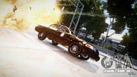 Ford Crown Victoria Fl Highway Patrol Units ELS para GTA 4 vista lateral