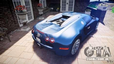 Bugatti Veyron 16.4 v3.0 2005 [EPM] Strasbourg para GTA 4 vista superior