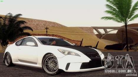 Hyundai Genesis Tunable para GTA San Andreas traseira esquerda vista