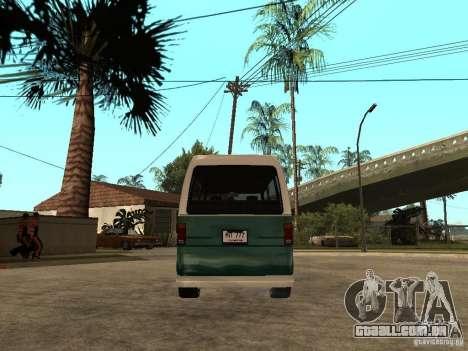 VW T1 Samba para GTA San Andreas traseira esquerda vista