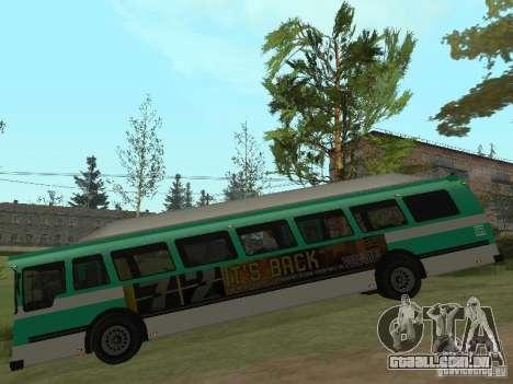 Ônibus do GTA 4 para GTA San Andreas traseira esquerda vista