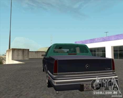 Chrysler New Yorker 1988 para GTA San Andreas traseira esquerda vista