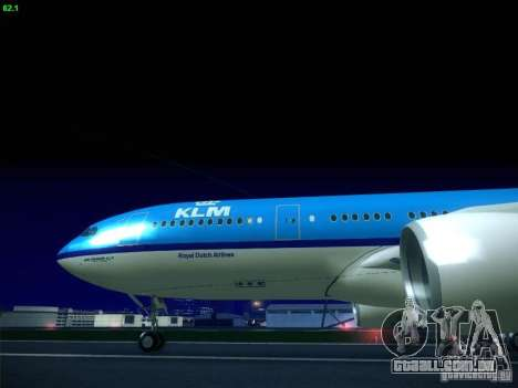 Airbus A330-200 KLM Royal Dutch Airlines para GTA San Andreas vista direita