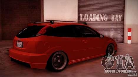 Ford Focus SVT Clean para GTA San Andreas vista interior