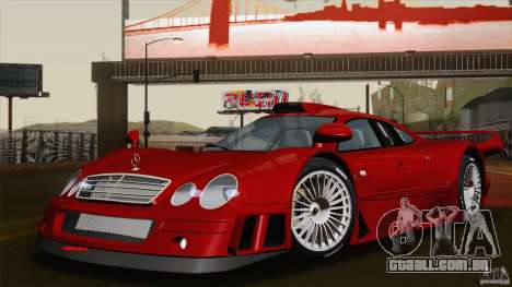 Mercedes-Benz CLK GTR Race Road Version Stock para GTA San Andreas vista inferior