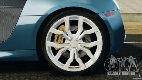 Audi R8 5.2 Stock Final para GTA 4 vista superior