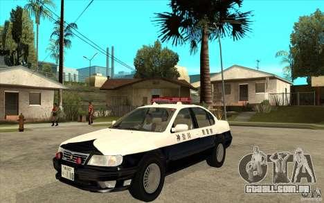 Nissan Cefiro A32 Kouki Japanese PoliceCar para GTA San Andreas vista direita