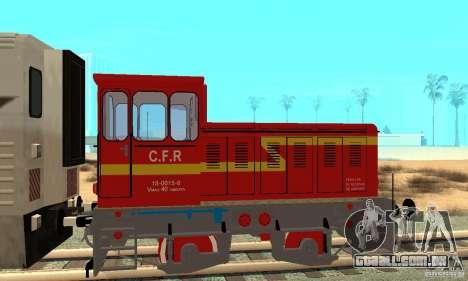 Locomotiva LDH 18 para GTA San Andreas traseira esquerda vista