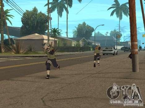 Hatake Kakashi From Naruto para GTA San Andreas sexta tela