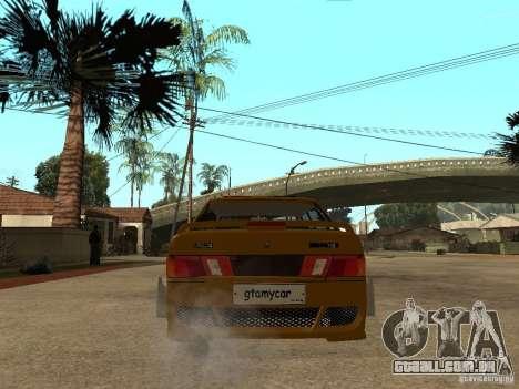 VAZ 2115 polícia carro Tuning para GTA San Andreas traseira esquerda vista