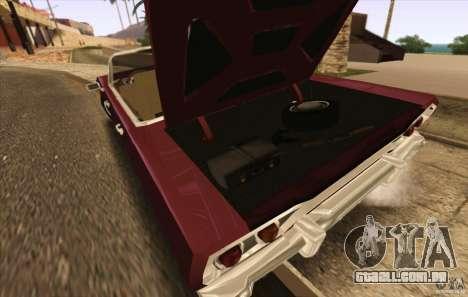 Savanna Detroit 1965 ( v. 2 ) para GTA San Andreas vista direita