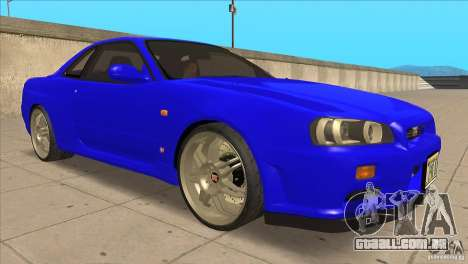 Nissan Skyline R34 FNF4 para GTA San Andreas vista traseira