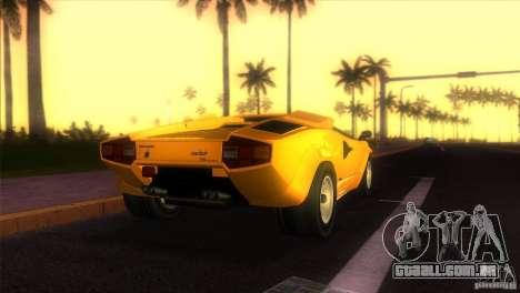 Lamborghini Countach para GTA Vice City deixou vista