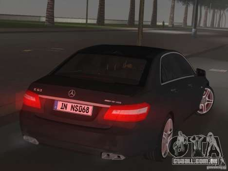 Mercedes-Benz E63 AMG para GTA Vice City vista traseira