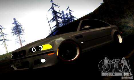 BMW M3 JDM Tuning para GTA San Andreas vista inferior