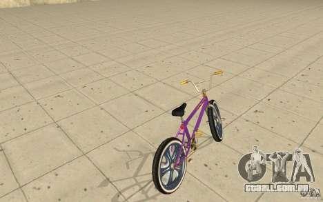 Spin Wheel BMX v1 para GTA San Andreas traseira esquerda vista