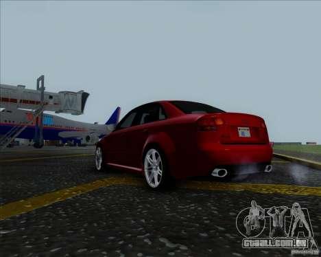 Audi RS4 para GTA San Andreas esquerda vista
