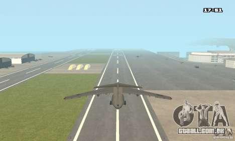 Ilyushin Il-76 MD para GTA San Andreas esquerda vista