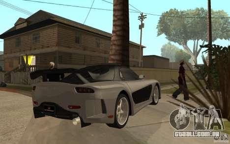Mazda RX 7 VeilSide Fortune v.2.0 para GTA San Andreas vista direita