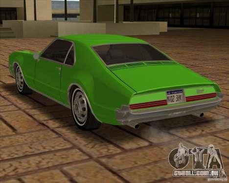 1966 Oldsmobile Toronado para GTA San Andreas vista traseira
