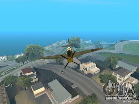 P-51 Mustang para GTA San Andreas vista traseira