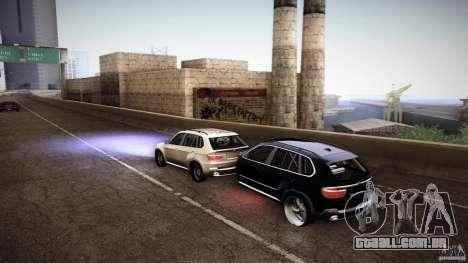 BMW X5 with Wagon BEAM Tuning para GTA San Andreas traseira esquerda vista