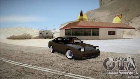 Nissan 240SX S13 para GTA San Andreas vista traseira