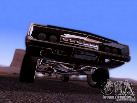Dodge Charger 1970 Fast Five para GTA San Andreas vista traseira
