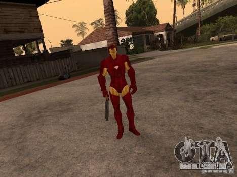 Homem de ferro para GTA San Andreas segunda tela