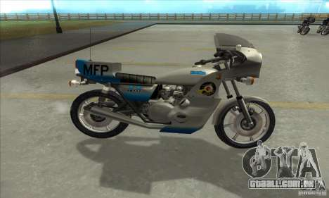 Kawasaki KZ1000 MFP para GTA San Andreas esquerda vista