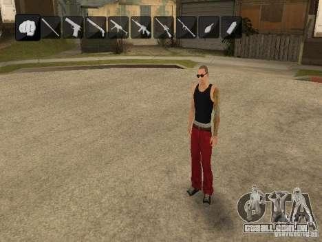 Ícones quando mudar de armas para GTA San Andreas