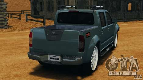 Nissan Frontier DUB v2.0 para GTA 4 traseira esquerda vista