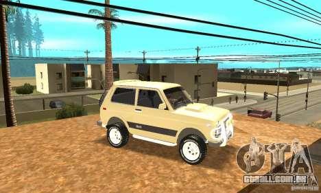 VAZ 21213 4 x 4 para vista lateral GTA San Andreas