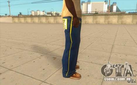 Karl Kan Puzzle Jeans para GTA San Andreas por diante tela