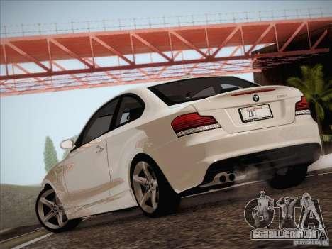BMW 135i para GTA San Andreas vista traseira