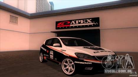 Kia Ceed 2011 para GTA San Andreas vista interior