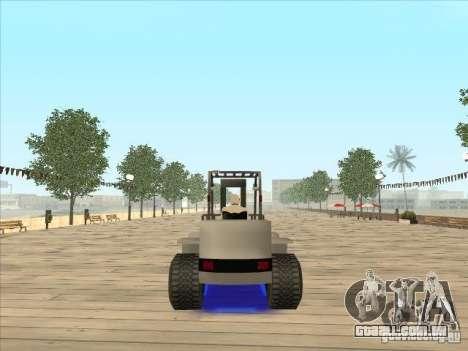 Forklift extreem v2 para GTA San Andreas esquerda vista